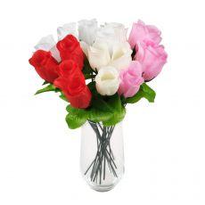 Kunstblume Bunte Rose - Heckenrose 28 cm