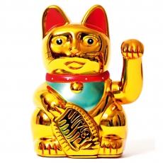 Winke-Katze 16 cm Gold