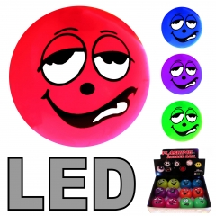 LED Flummi 55 mm Smiley