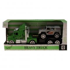 Fahrzeuge Truck mit Anhänger 23 cm