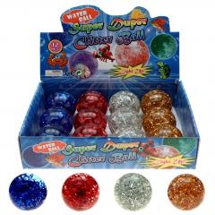 LED Flummi 65 mm Wasser-Glitterball
