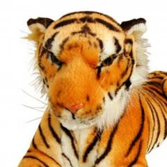 Plüsch Tiger braun  90 cm