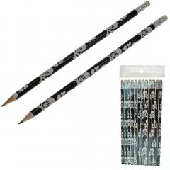 Bleistifte Piratenmotive 12er Set - 19 cm
