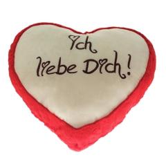 Plüsch Herz Liebesherzen Rot 20 cm