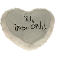 Plüsch Herz Liebesherzen Creme 40 cm