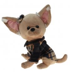 Plüsch Hund Chihuahua mit Mantel 30 cm