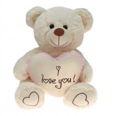Plüsch Bär Liebesbären mit rosa Herz  50 cm