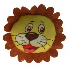 Plüsch Löwenkopf-Kissen LEO 14 cm
