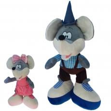 Plüsch Maus Maxl und Rosi 55 cm