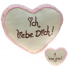 Plüsch Herz Liebesherzen Pink 40 cm