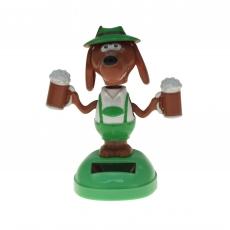 Solar-Figur dancing beer dog 10 cm