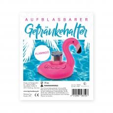 Aufblasbarer Getränkehalter Flamingo