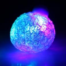 LED-Glitzer Knautschball - Quetschball 120gr.  6 cm