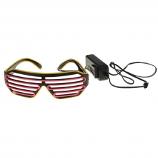 Party LED-Brille Bicolor  3 LEDS