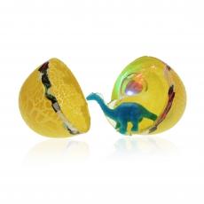 Dino-Schleim mit LED Dino im Ei   8 x 6 cm