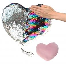 Plüsch Herz mit Pailletten Glamour  20 cm
