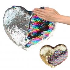 Plüsch Herz mit Pailletten Glamour  25 cm