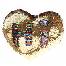 Plüsch Herz mit Pailletten Glamour  50 cm