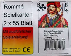 Rommékarten 2 x 55 Blatt