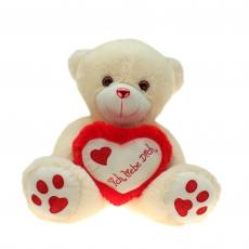 Plüsch Bär mit Herz Metallo-Rot  60 cm