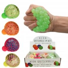 Knautschball - Quetschball Glitzer-Neon 110g  6 cm