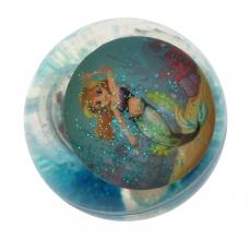 Glitzer Flummi Meerjungsfrau mit LED, 3-fach sortiert