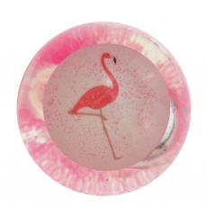 LED Glitzer Flummi Flamingo 65 mm