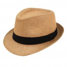 Fedora Hut Stroh mit schwarzem Band