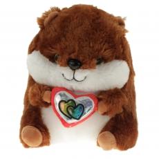 Plüsch Hamster mit Herz Glitzi 2-fach sortiert 90 cm