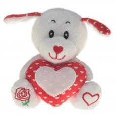 Plüsch Bär und Hund mit Herz Rosé 15 cm