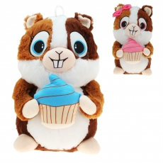 Plüsch Hamster mit Cupcake Hugo & Helga 25 cm