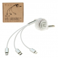 COOL Roll-Up Ladekabel 3 in 1