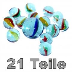 Murmeln / Murmel Set - 21 Teile