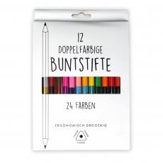 Doppelbuntstifte 12er Set 17,5 cm