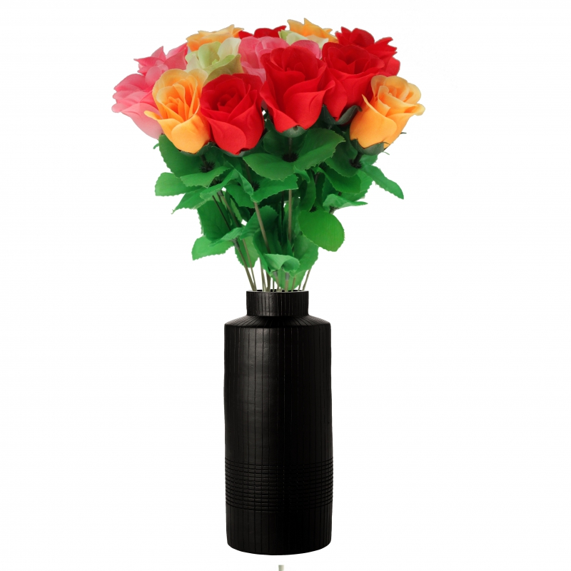 kunstblume bunte rose heckenrose 45 cm. Black Bedroom Furniture Sets. Home Design Ideas