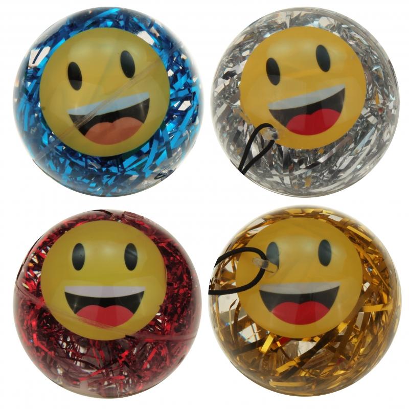 led returnball 65 mm glitterball smiley. Black Bedroom Furniture Sets. Home Design Ideas
