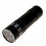 Taschenlampe Lichtkraft Alu Lite schwarz  9 LEDs