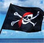 Fahne Pirat 45 x 30 cm