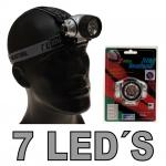 Taschenlampe Kopflampe 7 Leds