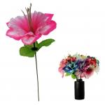 Kunstblume Bunte Hibiskus Blumen