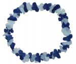 Blumenkette Blau/Weiß/Blau