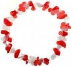 Blumenkette Rot/Weiß/Rot