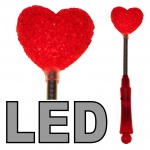 LED Herz Stab 24 cm - 3 Effekte