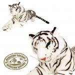 Plüsch Tiger weiß  130 cm