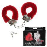 Plüsch Handschellen in Box schwarz