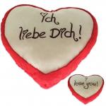 Plüsch Herz Liebesherzen Rot 30 cm