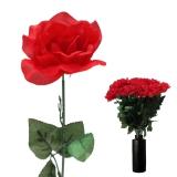 Kunstblume Rote Rose - Edel 70 cm