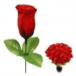 Kunstblume Rote Rose - Heckenrose 28 cm