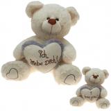 Plüsch Bär Liebesbären mit grauem Herz  60 cm