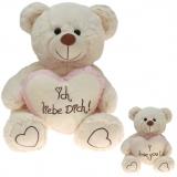 Plüsch Liebesbär mit Herz Rosa 60 cm